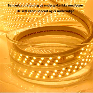 230V Led Strip 180 Led 9W 3000K IP67
