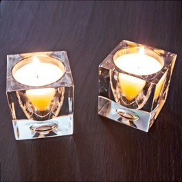 D28Z0100 Fabbian Ice Cube Candlelight