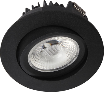 Juno COB 76 LED 8W 2700K IP44 mat sort