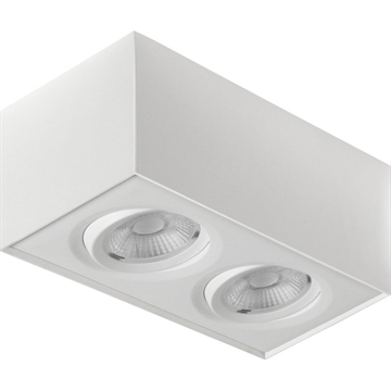 Gyro Surface Square 2x8W 2700K IP23 hvid eller sort