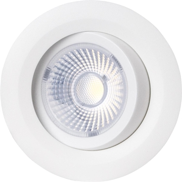 Luzense Gyro Downlight led 8W 2700K IP44 hvid Dæmpbar
