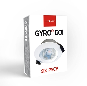 "Luzense Gyro Go ""Six-pack"" Downlight led 8W 2700K dæmpbar IP44"