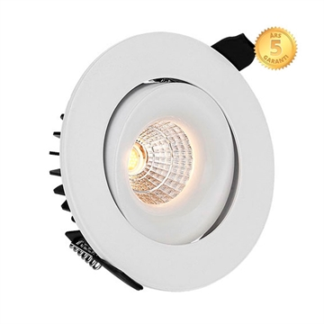 Moon Led indbygningsspot 230V 12W 3000K IP44 5 års garanti