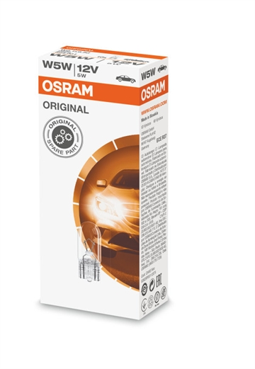 Osram 2825 Original 5W 12V wedge W2.1X9.5D