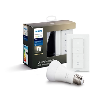 Philips Hue White E27 kit med Dimmer switch