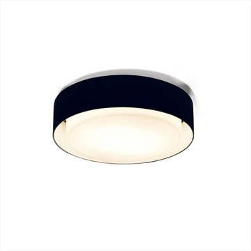 A628-003 39 Plaff-On væg/loft-lampe Ø33cm  Sort