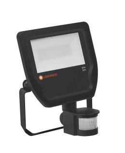 Ledvance Led Projektør 20W 3000K Sort IP65 m/PIR