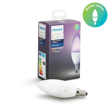 Philips Hue white and color ambiance kerte E14 1-pak
