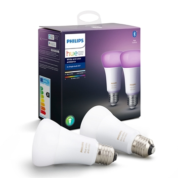 Philips Hue White and Color ambiance E27 dobbeltpakke