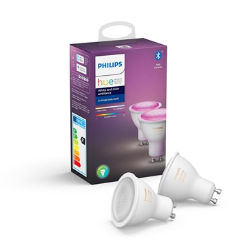 Philips Hue White and color ambiance GU10 2-pak