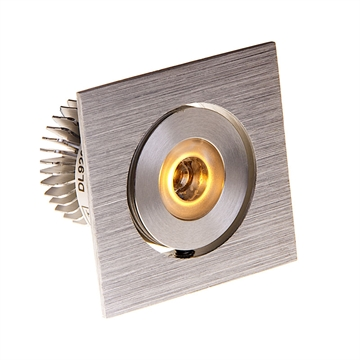 Led Indbygningsspot DL920 Mini Square Børstet Alu