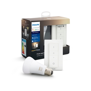 Philips Hue White Ambiance E27 Kit med Dimmer switch