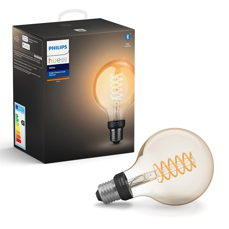 Philips Hue White Filament Globe G93 E27 pære